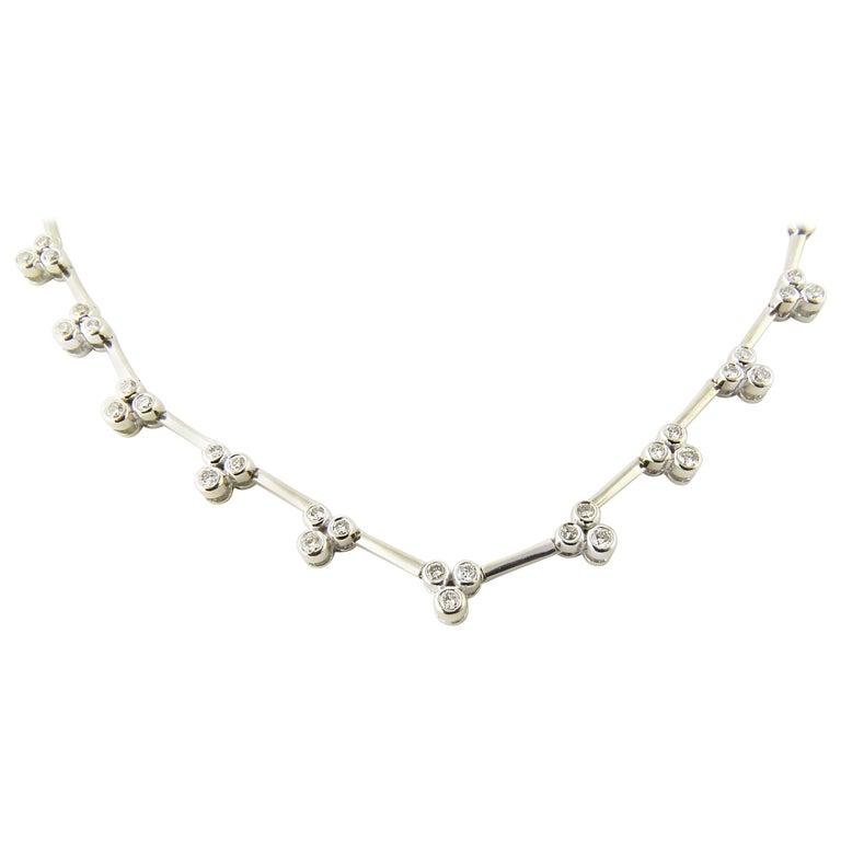14 Karat White Gold and Diamond Necklace
