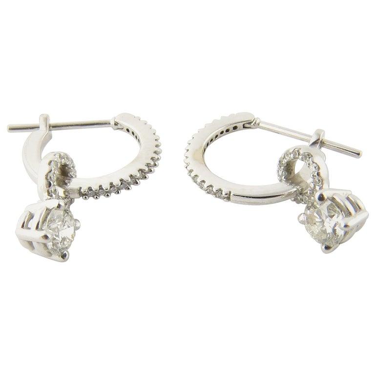 14 Karat White Gold Diamond Earrings