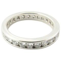 Platinum Diamond Eternity Band 1.35 Carat