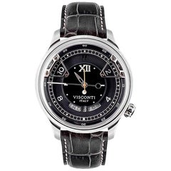 Visconti Italy Stainless Steel Opera Black Automatic Wristwatch