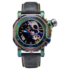 Visconti Italy Stainless Sport Dive 3000 Skull and Roses automatic Wristwatch