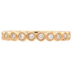 18 Karat Yellow Gold Diamond Stackable Anniversary Wedding Band Ring