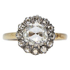 Antique Victorian 18 Karat Gold 1.5 Carat Diamond Ring