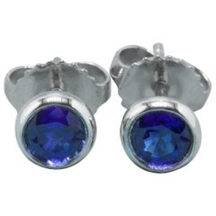 Tiffany & Co. Elsa Peretti Sapphire Color, the Yard Earrings 0.70 Carat Platinum