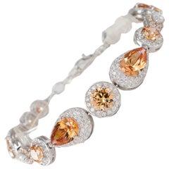 Siledium Silver Rhodium Palladium Chain Bracelet