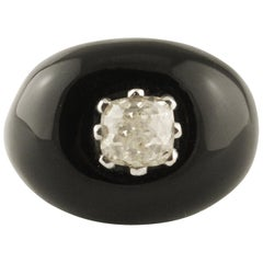 Onyx 1.82 Carat Diamond White Gold Ring