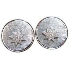 .50 Carat Diamonds North Star Cufflinks 14 Karat