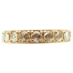 Tiffany & Co. Metro Rose Cut Diamond Eternity Band 18 Karat Rose Gold