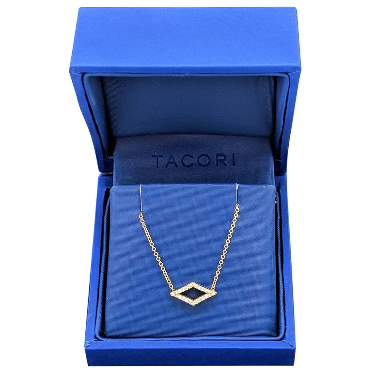 Tacori SN216Y Ivy Lane Pavé Diamond Chevron Pendant Necklace, 18 Karat Gold