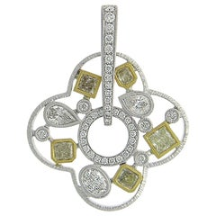 18 Karat White Gold Pendant with Diamonds