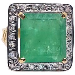 14.21 Carat Emerald and Diamond Ring, circa 1940