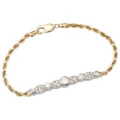 Vintage Gold and Diamond Bracelet