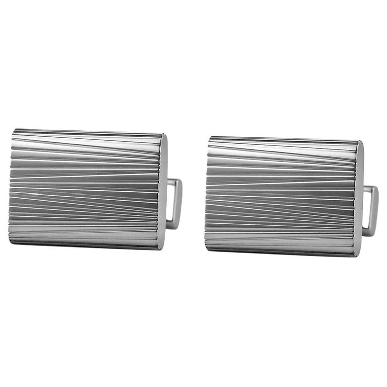 etched white gold cufflinks for sale at 1stdibs