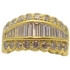 Tapered Baguette Diamond Band