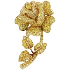 Van Cleef & Arpels Yellow Diamond Flower Brooch
