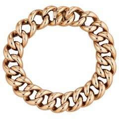 1930s European Chain Link Rose Gold Bracelet