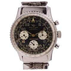 Breitling Stainless Steel Navitimer Cosmonaute Manual Wristwatch Ref 806, c 1965