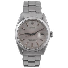 Rolex, an Unusual Stainless Steel Automatic with Date and Sweep Centre Seconds