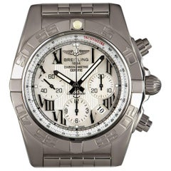 Breitling Chronomat Gents Steel Mother-of-Pearl Dial AB0110