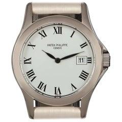 Patek Philippe Calatrava White Gold White Roman Dial Ladies Wristwatch