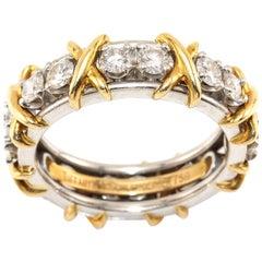 Tiffany & Co. Schlumberger 16 Diamond 1.20 Carat Eternity Ring