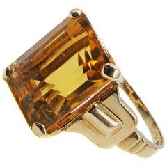 1950s Tiffany & Co. Citrine Gold Ring