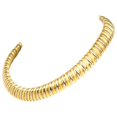 Bvlgari 18 Karat Yellow and White Gold Collar Necklace