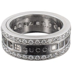 Gucci Diamond Ring Revolving Gold