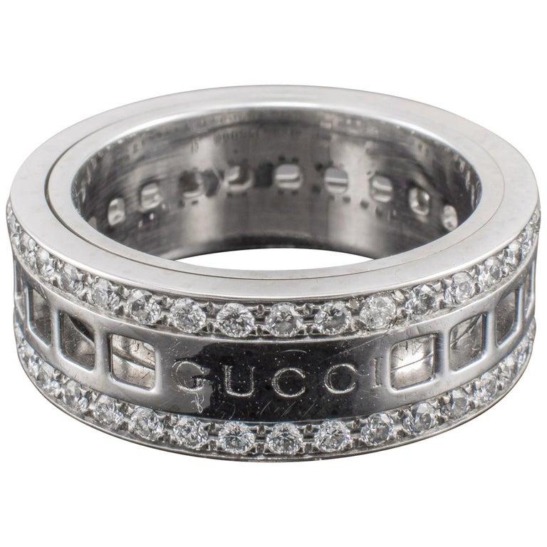 Gucci Diamond Ring Revolving Gold