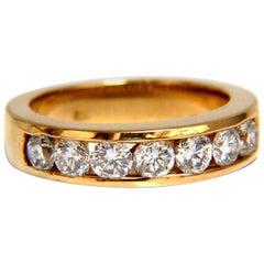 1.30 Carat Natural Round Diamonds Band 14 Karat H/Vs Classic