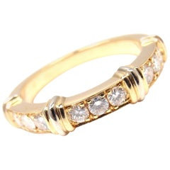 Cartier Diamond Yellow Gold Band Ring