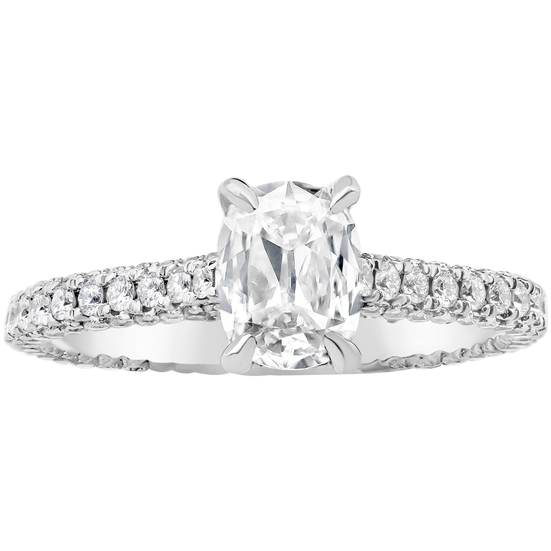 Roman Malakov, GIA Certified Elongated Cushion Cut Diamond Engagement Ring