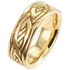 1970s Gold Wedding Ring Band