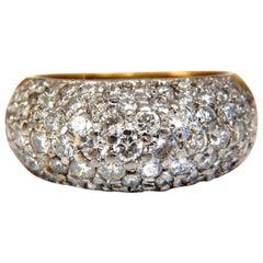 1.50 Carat Diamonds Dome Ring Bead Set 14 Karat