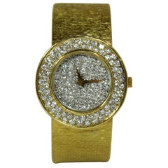 Bueche Girod Ladies yellow gold Diamond Quartz Wristwatch