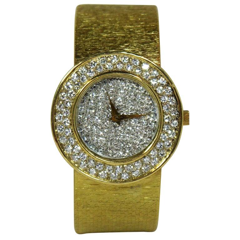 Bueche Girod Ladies yellow gold Diamond Quartz Wristwatch
