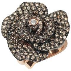Rota e Rota 18 Karat Rose Gold Diamond Ring AN13-135