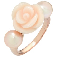 Mimi Milano 18 Karat Rose Gold Agate and Pearl Ring A190R2E-51