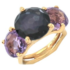 IPPOLITA 18K Gold Rock Candy Gelato 3-Stone Ring in Lace Frill GR370LACEFRILL