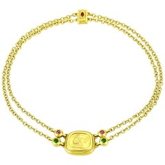 SeidenGang 18 Karat Yellow Gold Tourmaline Pendant Necklace