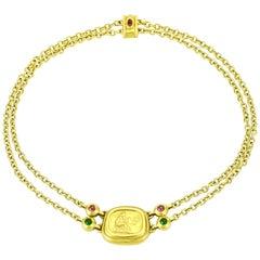 SeidenGang 18 Karat Yellow Gold Tourmaline Pendant Necklace