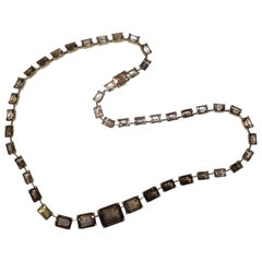 H Stern 18 Karat Smoky Quartz Emerald Cut Eternity Necklace