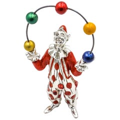 Tiffany & Co. Gene Moore Sterling Silver Circus Juggling Clown Figurine