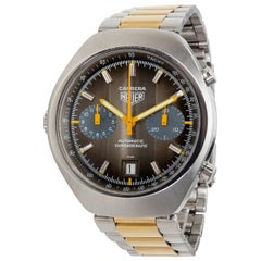 Heuer Carrera Men's Watch in Stainless Steel and Gold-Plated