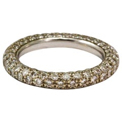 Two Carat Round Brilliant Cut Five-Row Diamond Eternity Band
