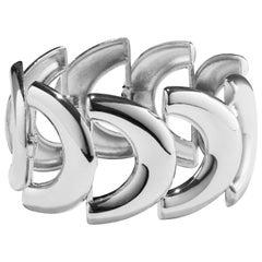 AGMES Sterling Silver Link Bracelet