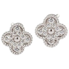 Van Cleef & Arpels Alhambra Diamond Earrings