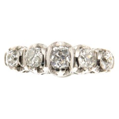 18 Carat White Gold 1.55 Carat Diamonds Band Ring