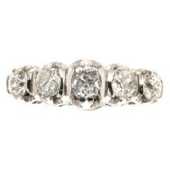 18 Carat White Gold 1.55 Carat Diamonds Band Ring
