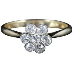 Antique Edwardian Diamond Cluster Ring Engagement, circa 1915